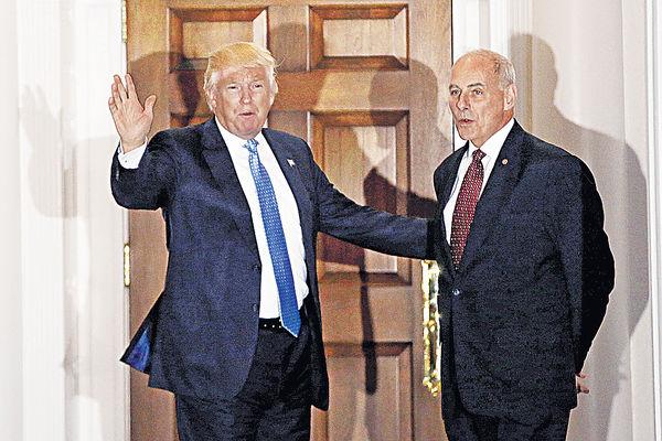 特朗普邀退役上將 任國土安全部長