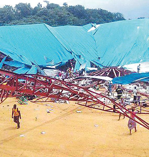 尼國教堂塌屋頂 160人喪生