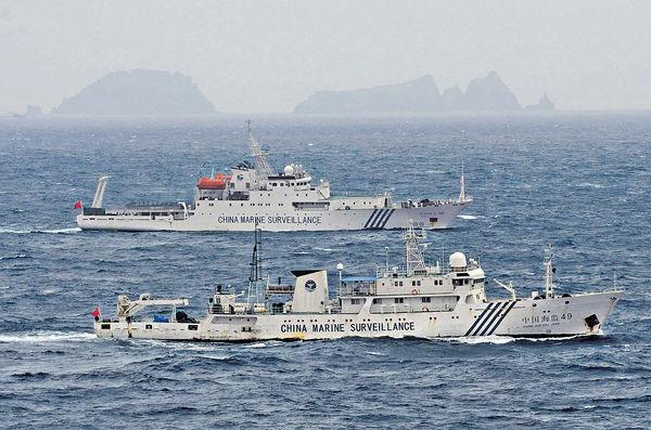 東海交鋒 中國三海警船再巡釣島