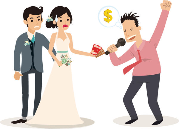 朋友自薦收$1200婚宴獻唱 新人無奈
