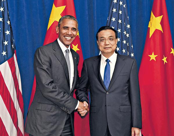 李克強晤奧巴馬 暗示制裁北韓