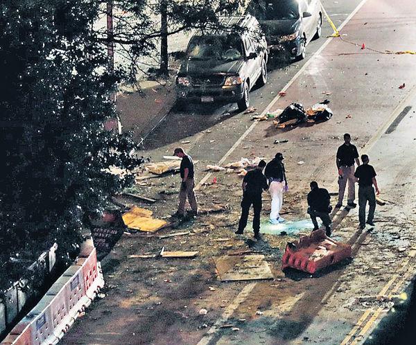 警搜壓力煲炸彈 曼哈頓爆炸29傷