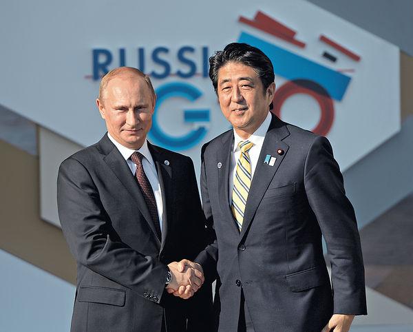 普京今訪日晤安倍 「溫泉外交」解島爭