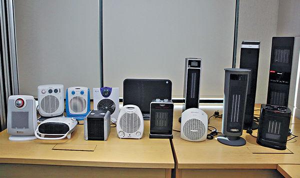 3款暖風機欠安全 或輕微觸電