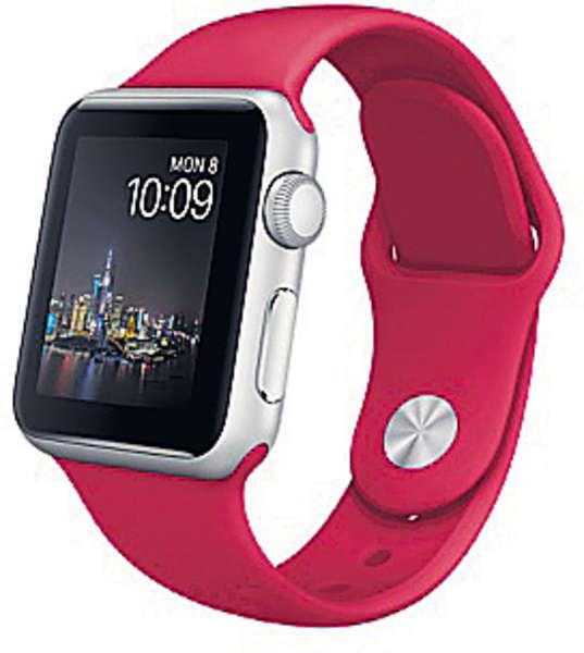 Apple Watch推新春版 紅錶帶搶眼