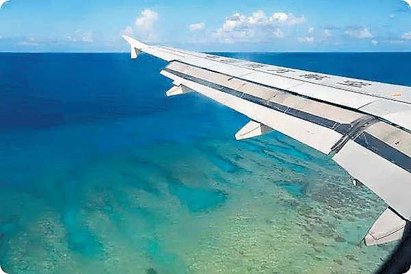 南沙首飛 空姐航拍美景