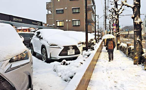 關東大雪傷206人 陸空交通混亂