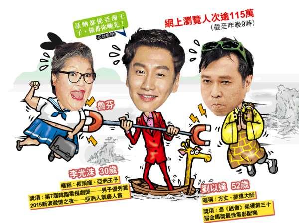 再拍賀年廣告爆笑唱山歌 韓粉無限Loop 光洙慘被劉以達瘋狂攝位