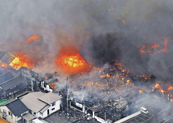 疑中餐館先起火 日本新潟焚商店街 燒140屋
