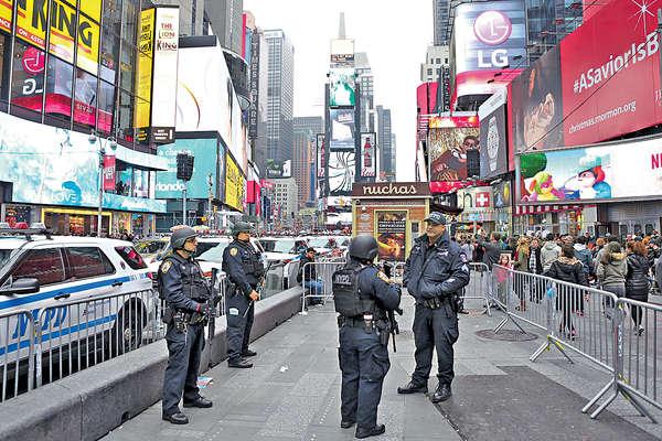 紐約時代廣場倒數6千警戒備
