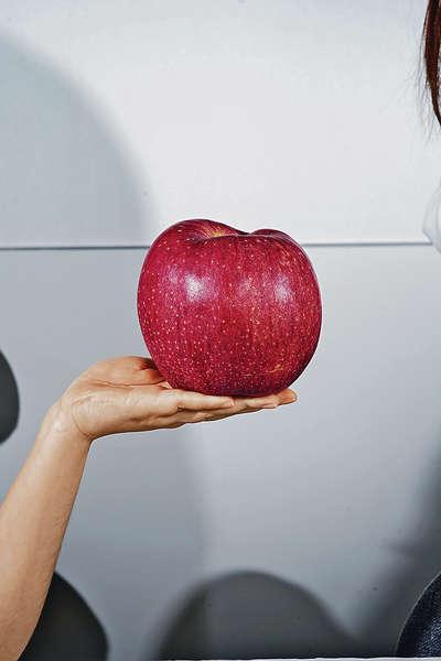 直徑13厘米「巨人蘋果」 一田有得賣