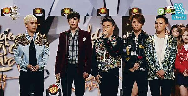 BigBang橫掃《金唱片》 T.O.P暗示從軍