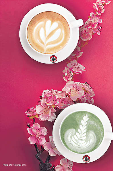 新年限定 桃花味咖啡及抹茶