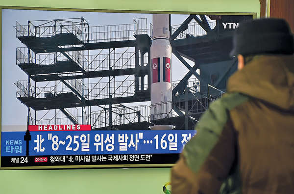 北韓初一射「衞星」 日本揚言擊落