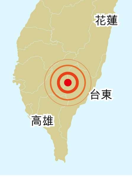 台東1小時地震6次 最強5.1級