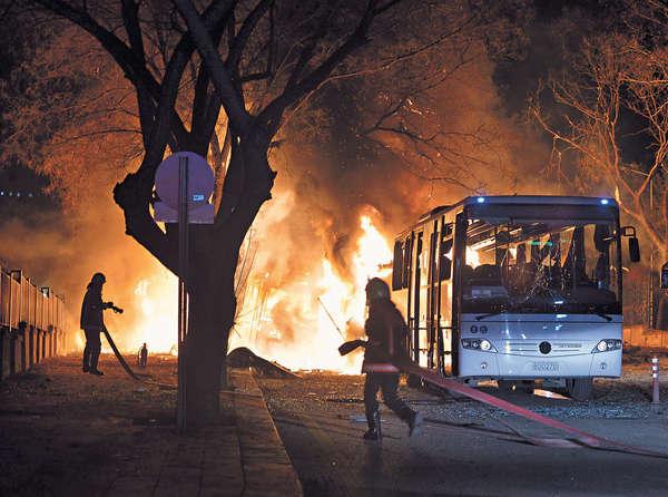 汽車彈襲軍人 土耳其百死傷