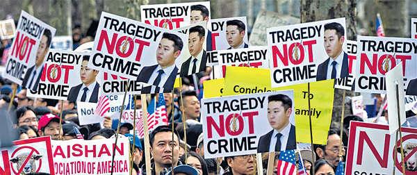 美華警誤殺黑人罪成 43城華人抗議