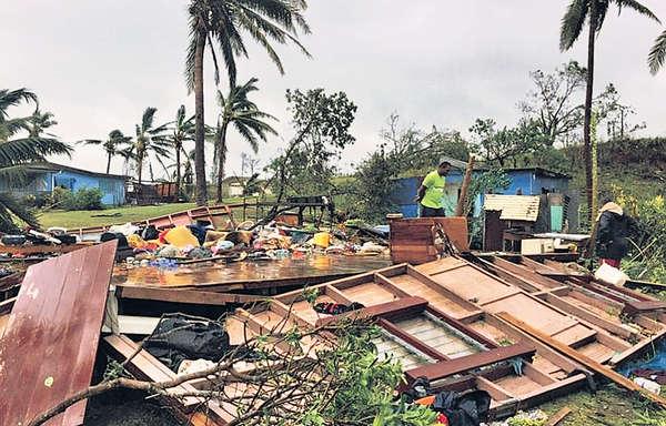 最強颶風釀5死 斐濟宵禁