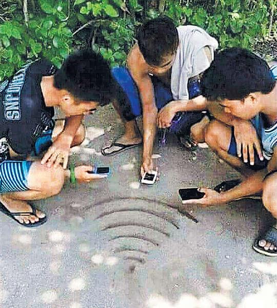 沙灘「人造Wi-Fi」夠晒創意