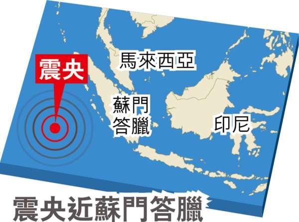 印尼海域7.8級地震 曾發海嘯警報