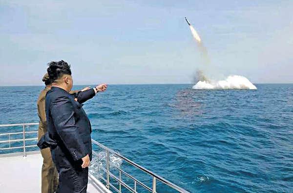 聯國重炮制裁 朝射導彈示威