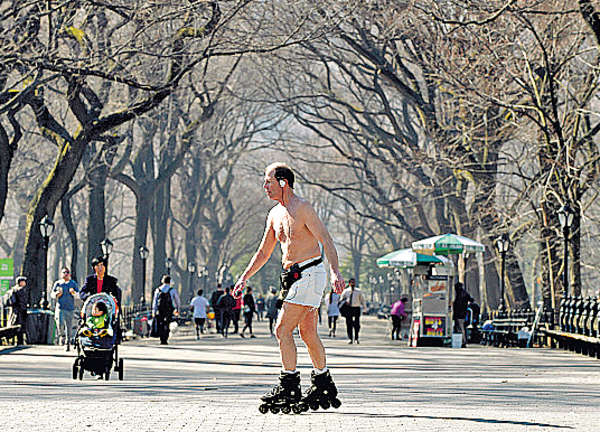23.9℃破紀錄 紐約「一夜入夏」