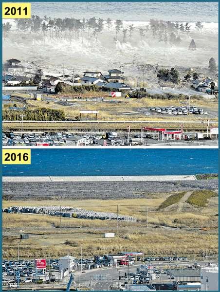 日地震核劫五年 災區重生