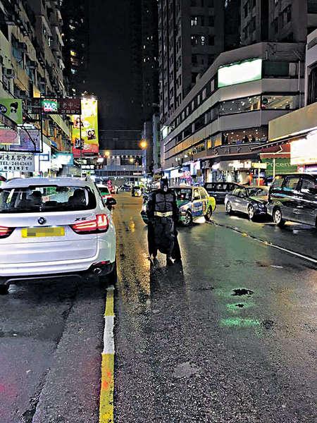 蝙蝠俠 現身香港馬路