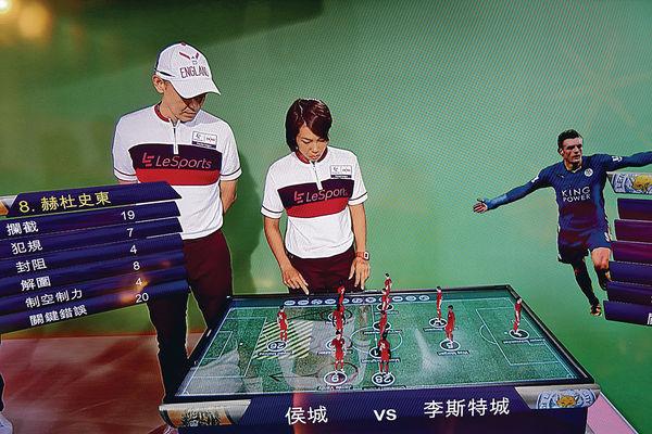 樂視體育英超頻道啟播 評述員用3D戰術板講波