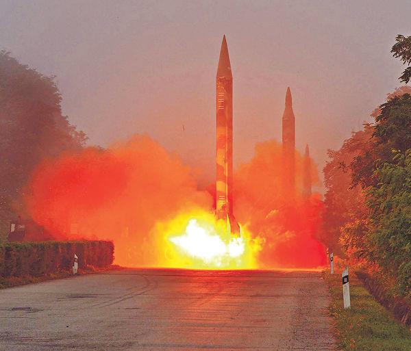 北韓射導彈 墜落日本專屬經濟海域