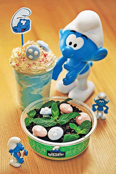 期間限定 藍精靈主題甜食