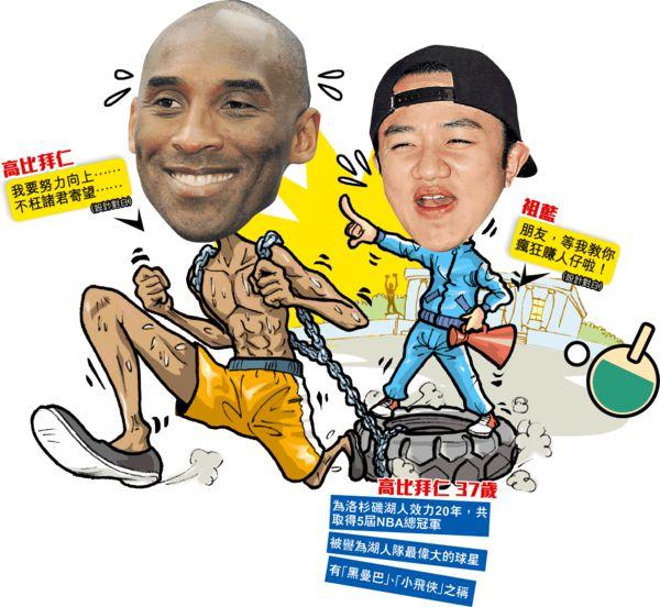 拍外賣飲食App廣告賺人仔 祖藍教Kobe打乒乓球