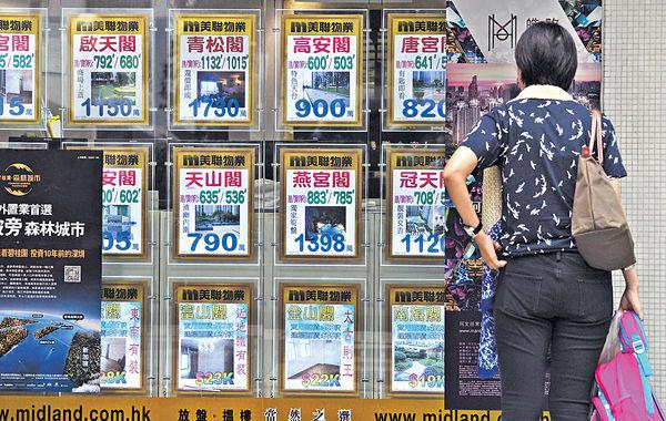 全球大城市首季樓價 港跌5%