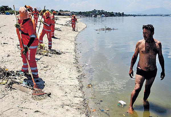 奧運帆船賽海灘 驚現超級細菌