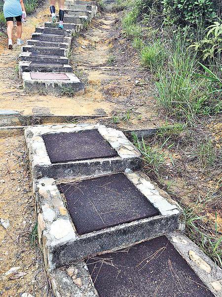 行山徑鋪軟墊 被批郊遊變「膠遊」