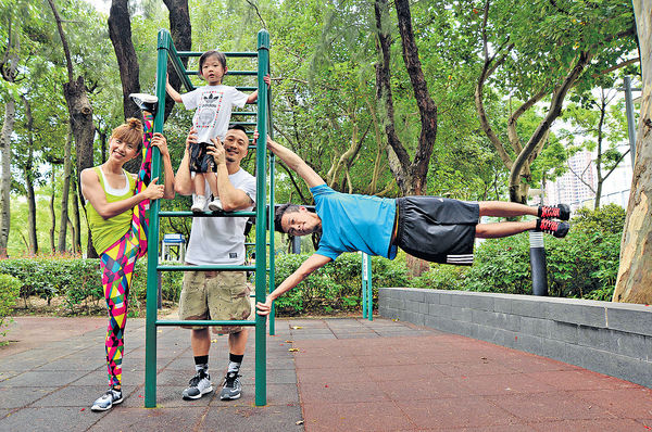 街頭健身 年輕人不再沉迷打機