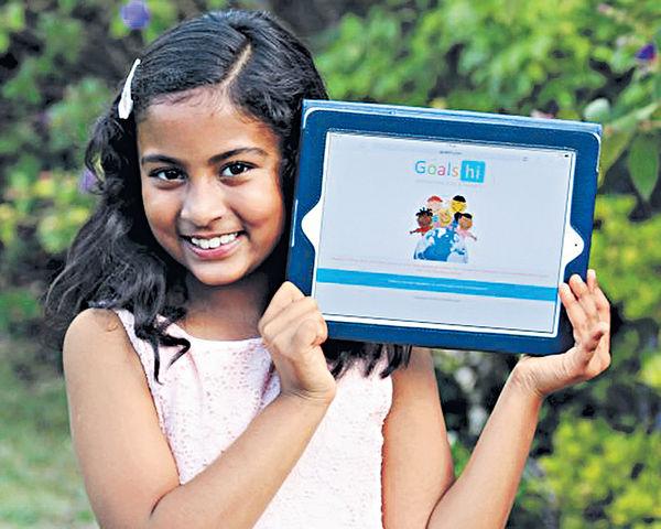 9歲女自學寫App 參加蘋果大會