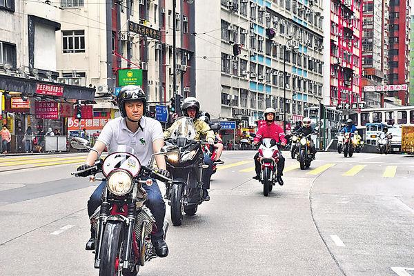 電單車遊行 促政府增泊位