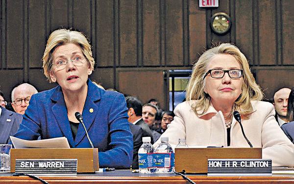 「華爾街剋星」撑希拉里 女參議員或成副總統