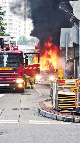音響短路 運菜車自焚