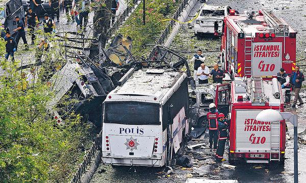 遙控彈襲警車 伊斯坦堡爆炸47死傷