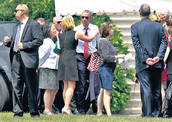 女子向白宮草坪擲物被捕