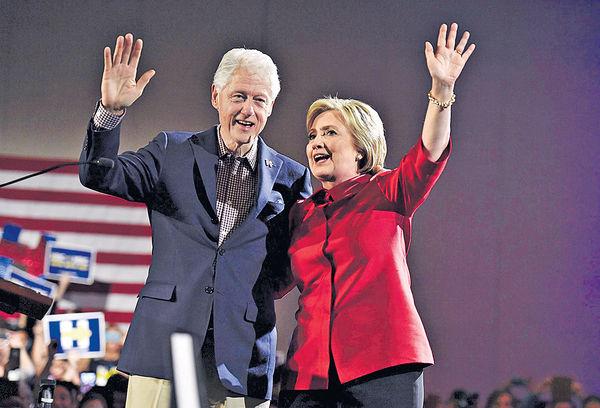 希拉里若當選 邀克林頓輔政