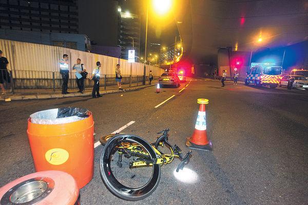 夜踩名牌單車捱撞 20歲仔昏迷
