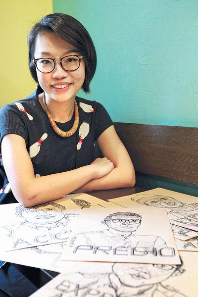 一筆畫肖像 紀錄本土咖啡文化