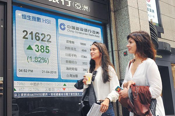 滙豐發力 恒指曾創3個月新高