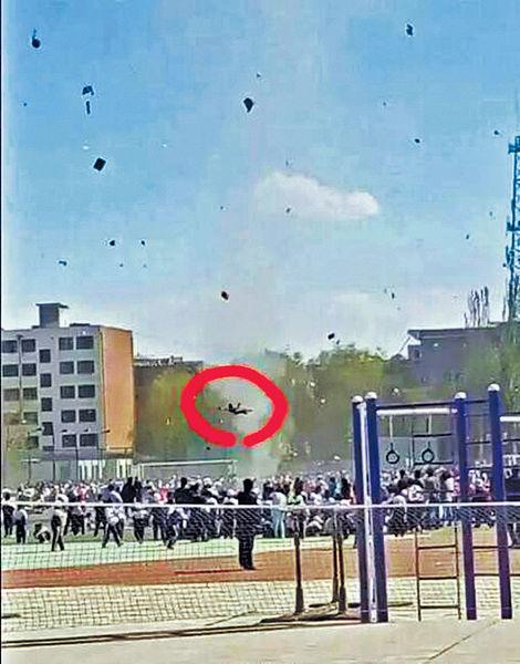 運動會颳龍捲風 小學生遭捲半空