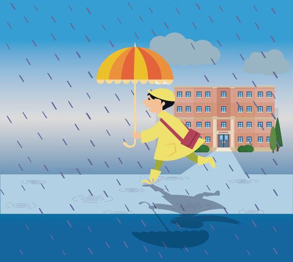 借落大雨逃學 港媽縱壞仔女
