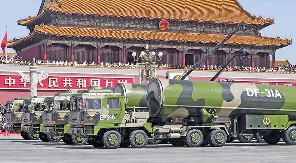 中國再試東風41 超勁導彈射程覆全美