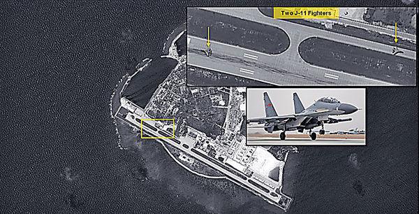 西沙永興島 部署殲11戰機